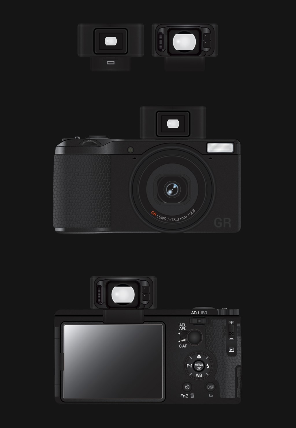 Ricoh GR-V, version viseur optionnel